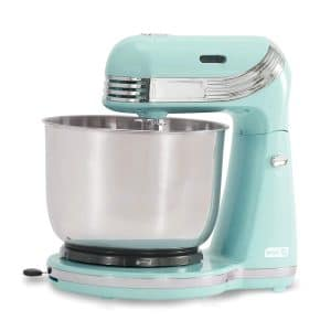 Dash Stand Mixer- 6 Speeds, 3 Qt Stainless Steel Bowl – Aqua