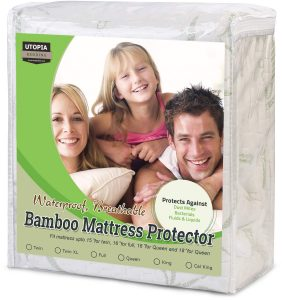 Utopia Bedding Waterproof Bamboo Mattress Protector