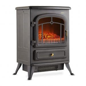 VonHaus Electric Fireplace Stove with Two Heat Settings – Black