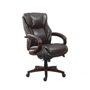 La-Z-Boy Bellamy Executive Leather Office Chair (Brown)