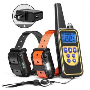 iSPECLE Dog Training Collar Waterproof 2600ft Remote Dog Shock Collar