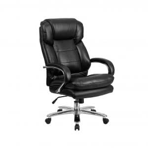 Flash Furniture Series 24:7 Black Leather Executive Chair with Loop Arms