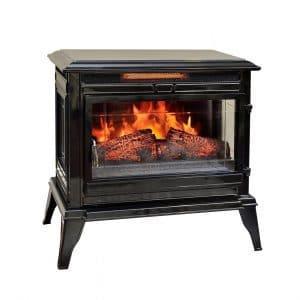 Comfort Smart CS-25IR-BLK Infrared Electric Fireplace, Black
