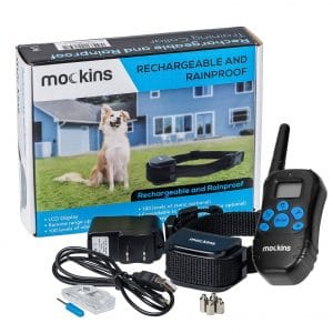 Mockins 100 Percent Rainproof Rechargeable Remote Dog Training collar