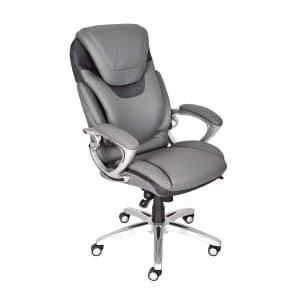 Serta 43807 Air Health and Wellness Executive Office Chair (Gray)